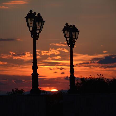 beautiful, clouds, lamps, sky, Nikon D7100