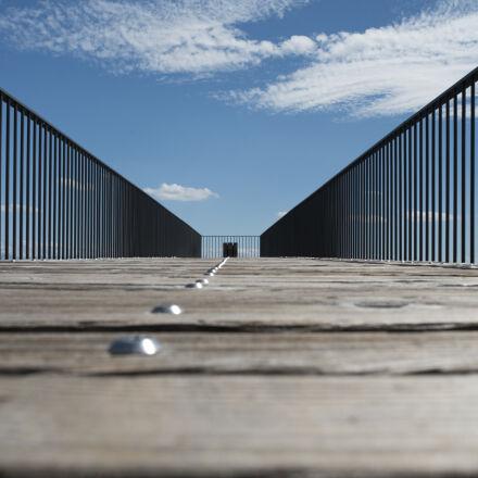 brown, wooden, walkway, Nikon D750