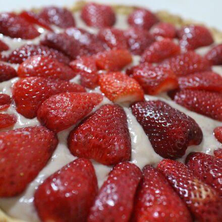pie, strawberry pie, strawberry, Canon EOS M