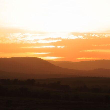 sun, sunset, sky, Canon EOS 7D
