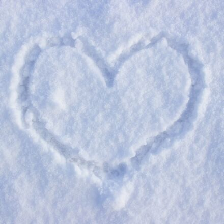 heart, snow, love, Canon EOS 600D