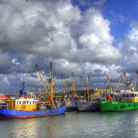 lauwersoog, port, fishing boats, Fujifilm X100S