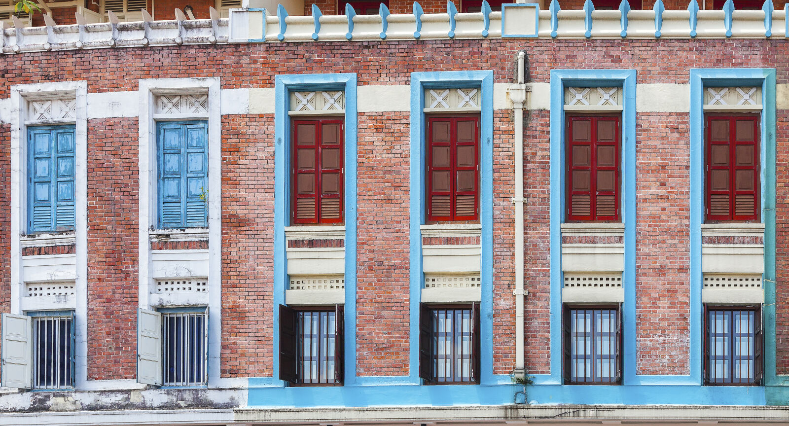 building, colourful, wooden, window