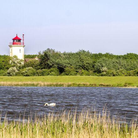 landscape, lighthouse, lake, Olympus E-5