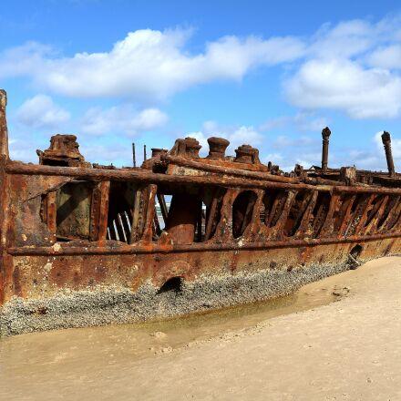 wreck, ocean, ship, Canon EOS 750D