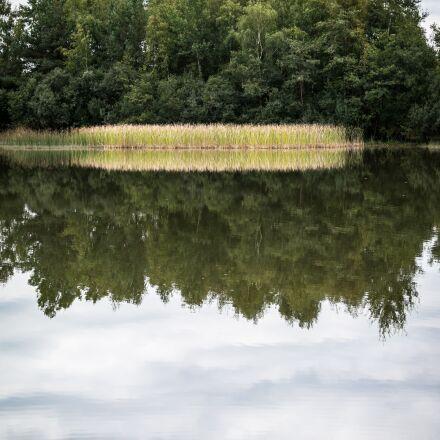 lake, mirroring, reed, Samsung NX300M