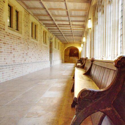 bench, hall, floor, Canon EOS 70D