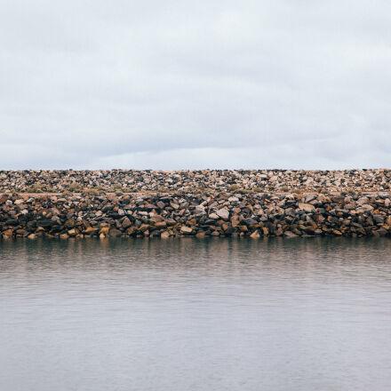 dam, ocean, rocks, sea, Canon EOS 5D MARK II