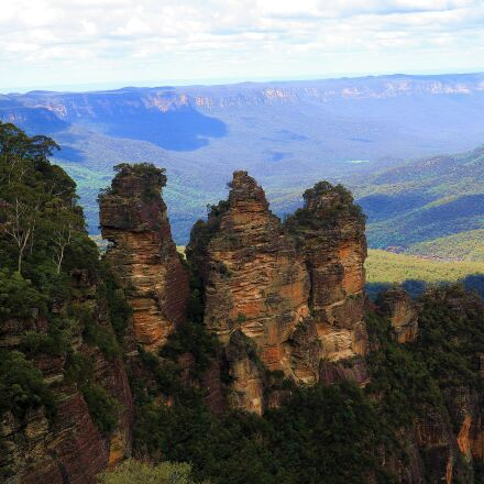 australia, forest, three sisters, Canon EOS 750D