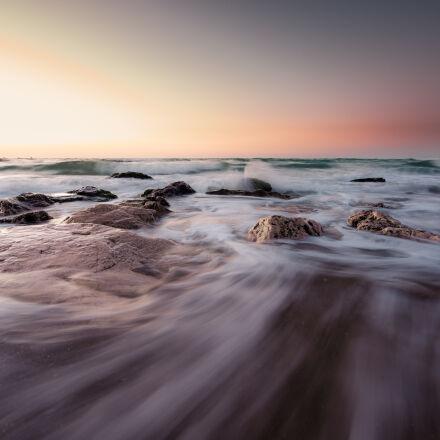 abstract, curves, sea, stones, Nikon D750