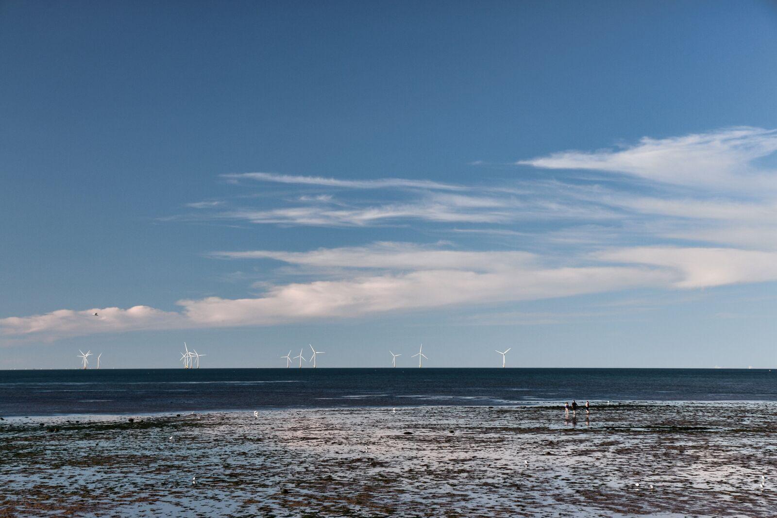 "Canon EOS 70D sample photo. ""Sea, ocean, wind farm"" photography"