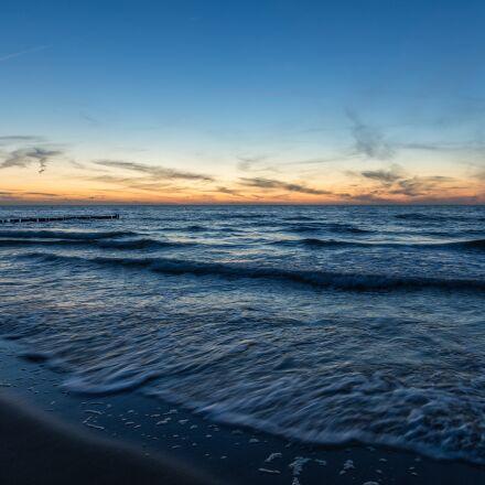 sea, evening, movement, Canon EOS 6D