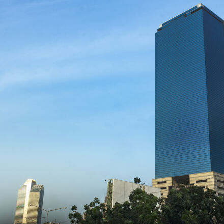 blue, building, building, exterior, Nikon D70S