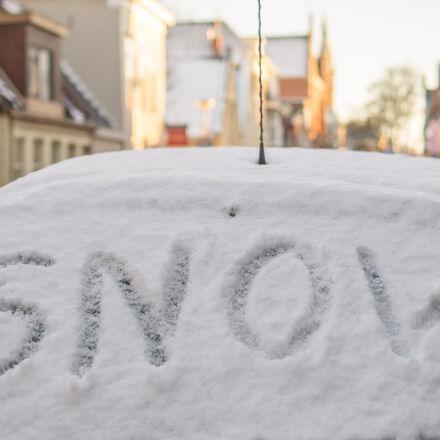 snow, covered, car, Sony SLT-A58