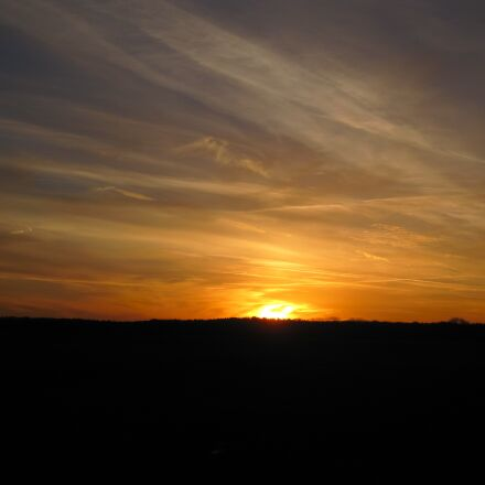 twilight, setting sun, sky, Canon DIGITAL IXUS 990 IS