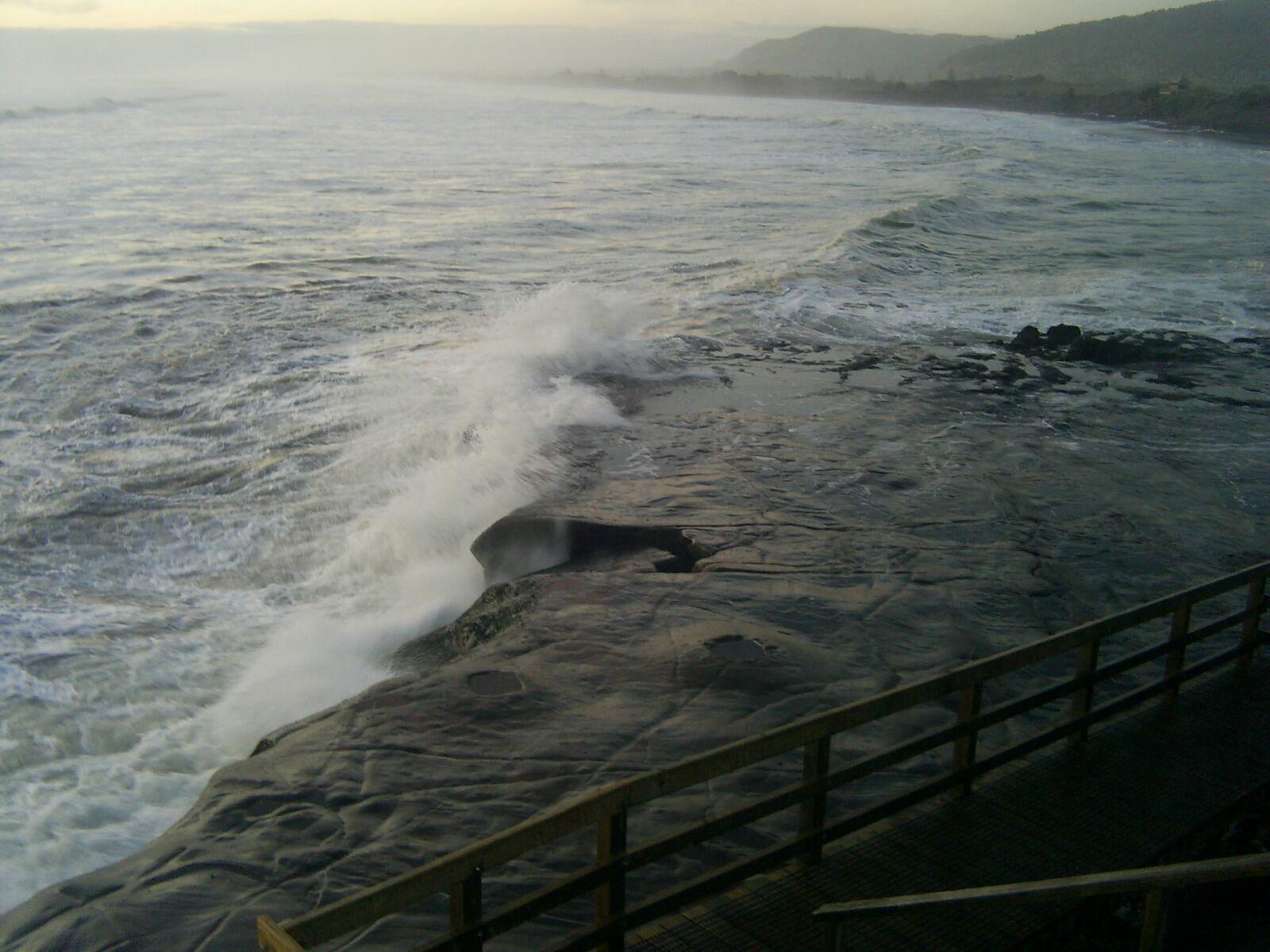 ocean, beach, dusk