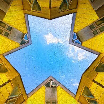 rotterdam, cube, yellow, Nikon D3S
