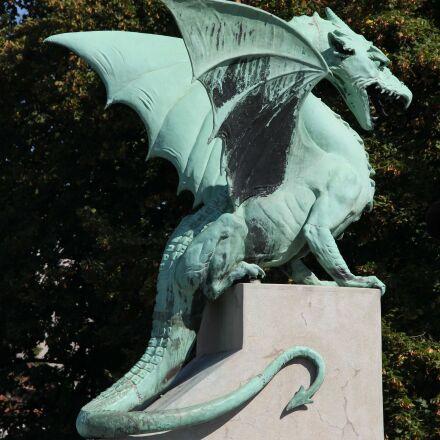 dragon, statue, sculpture, art, Canon EOS 550D