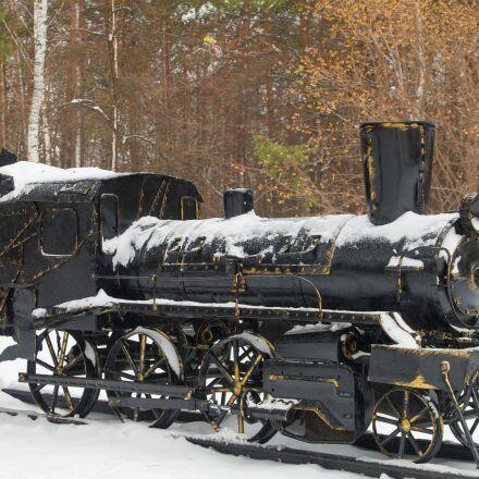 steam locomotive, monument, iron, Pentax K-500