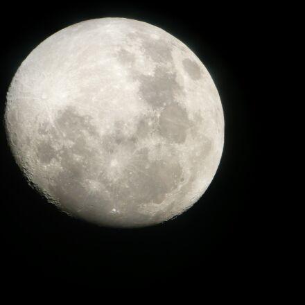 moon, night, space, Panasonic DMC-TZ2
