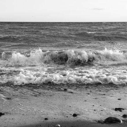 wave, sea, black and, Panasonic DMC-GH3