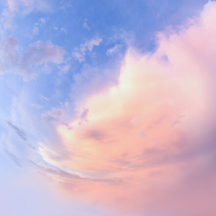 pink, clouds, photo of, Canon EOS 5D MARK III