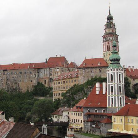 czech krumlov, city, castle, Canon POWERSHOT SX1 IS