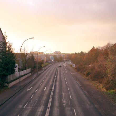 road, sunset, auto, Fujifilm X-T1