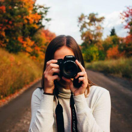 camera, canon, girl, Canon EOS REBEL T5I