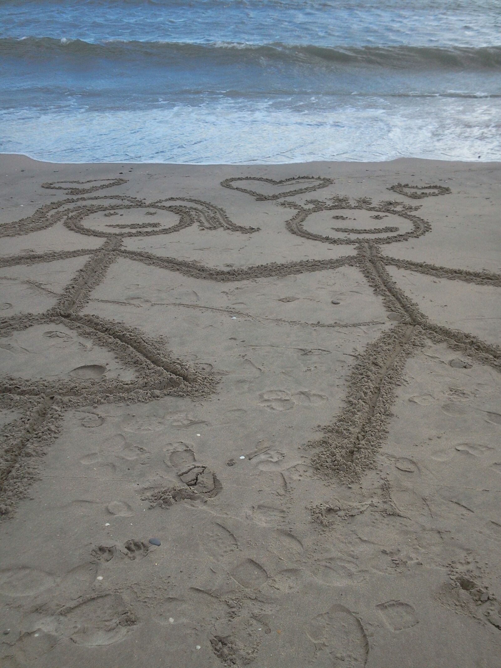 love, beach, sea