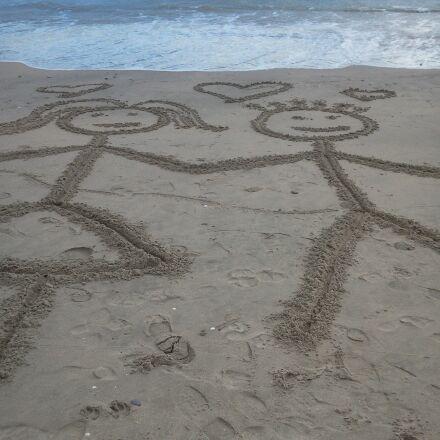 love, beach, sea, Samsung GT-S7230E