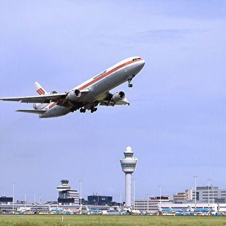 aeroplane, airport, landing, tower, Fujifilm FinePix A345