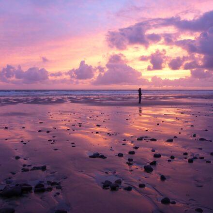 water, beach, sunset, Panasonic DMC-FT5