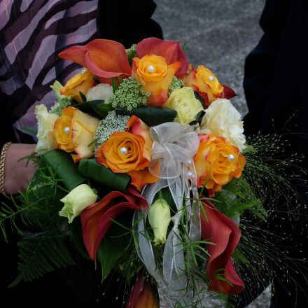 bridal bouquet, flowers, wedding, Fujifilm X-T1