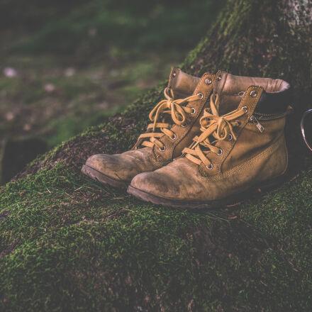 brown, work, boots, Nikon D5300