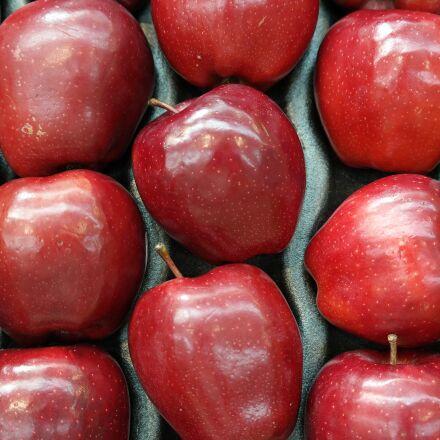 red, apples, fruit, Samsung NX30