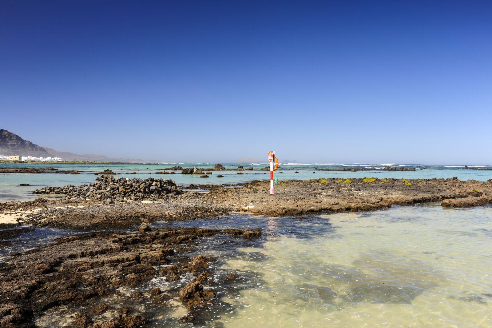 """Nikon D700 sample photo. """"Lanzarote, sea, bay"""" photography"""
