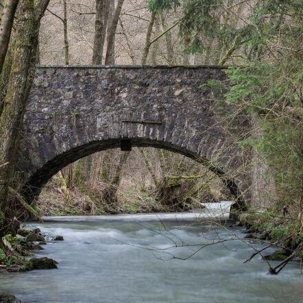 bridge, bach, river, Canon EOS 6D