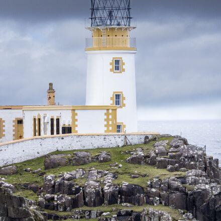 lighthouse, scotland, sea, Canon EOS 600D