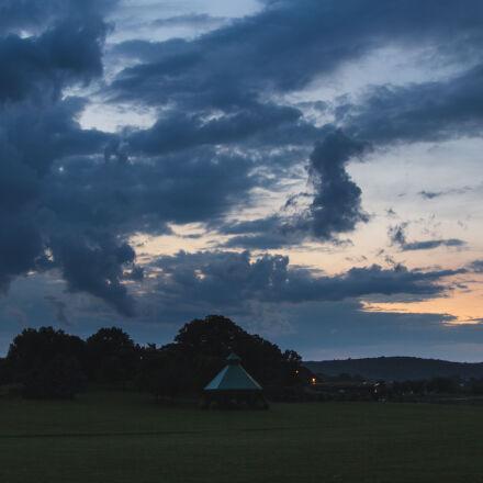 clouds, dusk, landscape, sunset, Canon EOS 60D