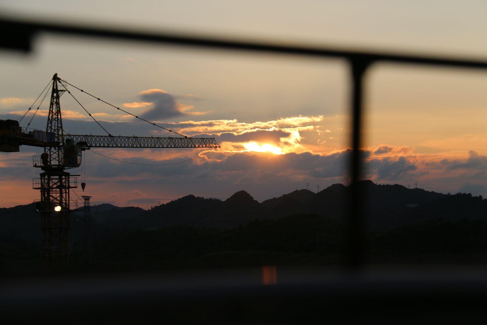 "Canon EOS 70D sample photo. ""Hills, sunset, truss"" photography"