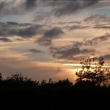 sunset, clouds, sky, Panasonic DMC-FH2