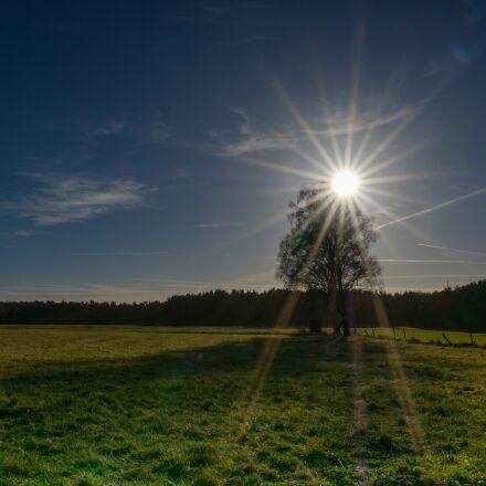 sky, sun, blue, Fujifilm X-T2