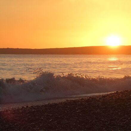 ocean, dorset, england, Fujifilm FinePix S100FS