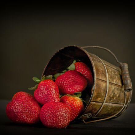 fruit, strawberries, red, Nikon D800E