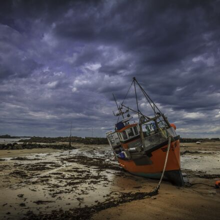 fishing boat, guernsey, channel, Canon EOS 7D