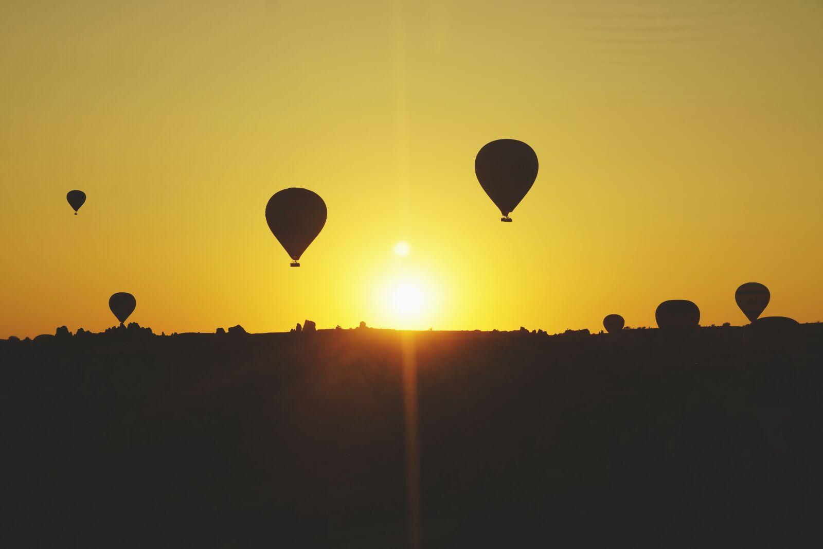 """Sony a6400 sample photo. """"Cappadocia, hot air, balloon"""" photography"""