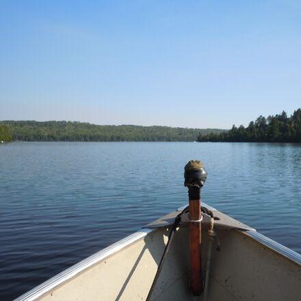 fishing, boat, lake, Nikon COOLPIX S6000