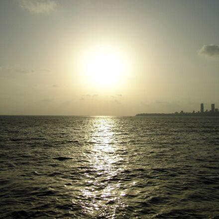 sunset, india, sea, Panasonic DMC-LZ20