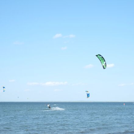 kiting, beach, firth, Fujifilm X-Pro1